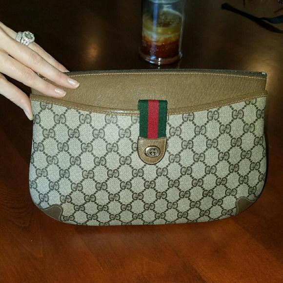 6b27a636c2079f Gucci Bags | Auth Monogram Shoulder Bag Clutch Purse Vtg | Poshmark